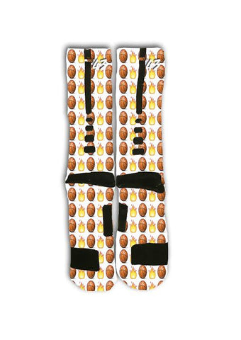 Basketball Emoji Custom Elite Socks