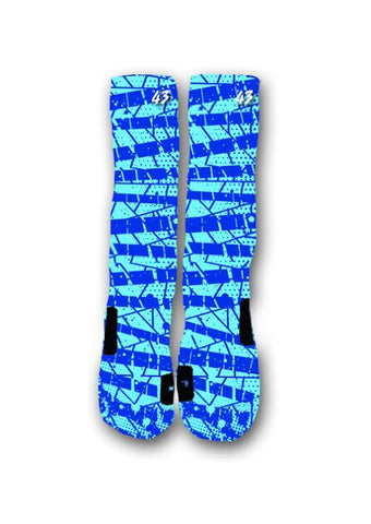 Electric Blue Custom Elite Socks