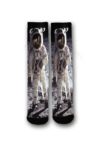 Astronaut Tall Socks