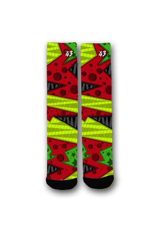 Atlanta Hawks Colors Custom Tall Socks