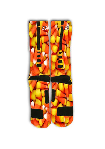 Candy Corn Custom Elite Socks