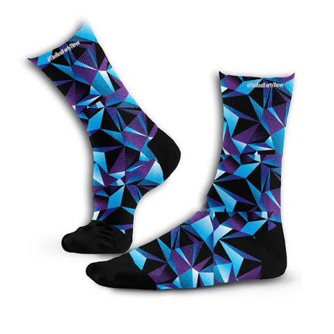 Blue Triangle Design Socks
