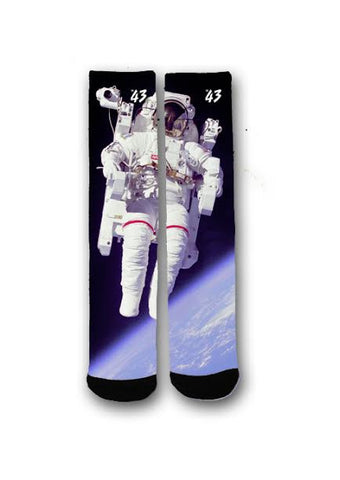 Astronaut On the Moon Tall Socks
