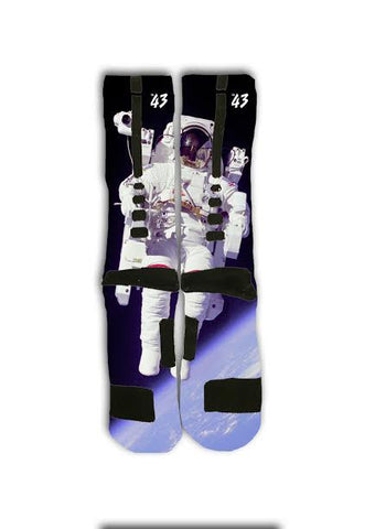 Astronaut On Moon Custom Elite Socks