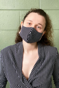 Adrienne Face Mask - Striped Cotton with Polypropylene Filter