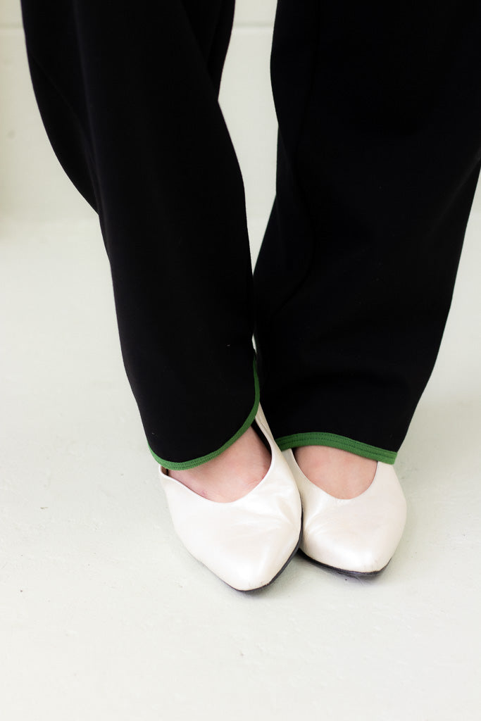 PRE-ORDER Babs Pant - Basil and Black