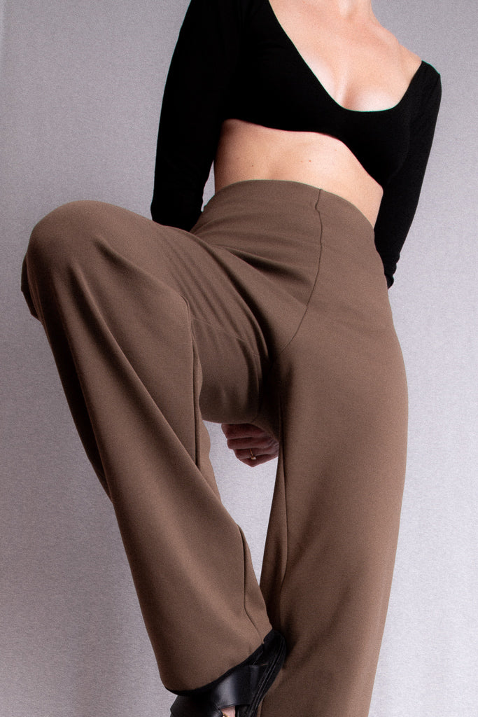 PRE-ORDER Babs Pants - Coffee and Black