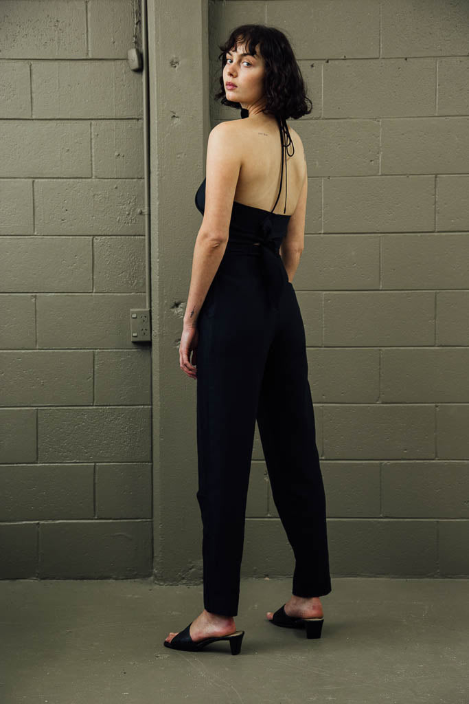 Lou Pant - Black Satin