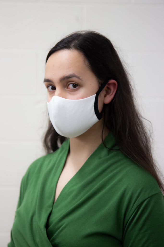 Washable Face Mask - Milk Organic Cotton with Polypropylene Filter