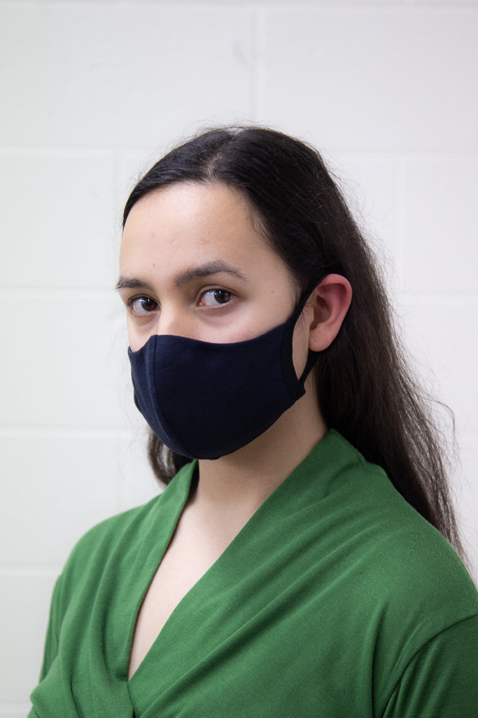 Washable Face Mask - Midnight Organic Cotton with Polypropylene Filter