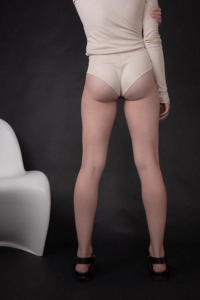 PRE-ORDER High-Rise French Brief - Tea
