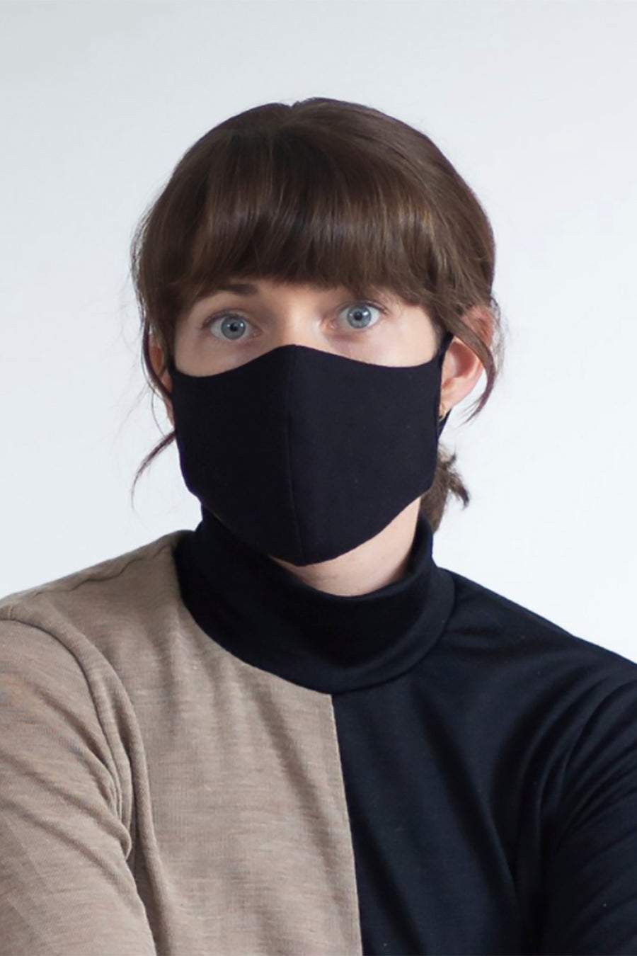 Face Mask - Black Organic Cotton with Polypropylene Filter