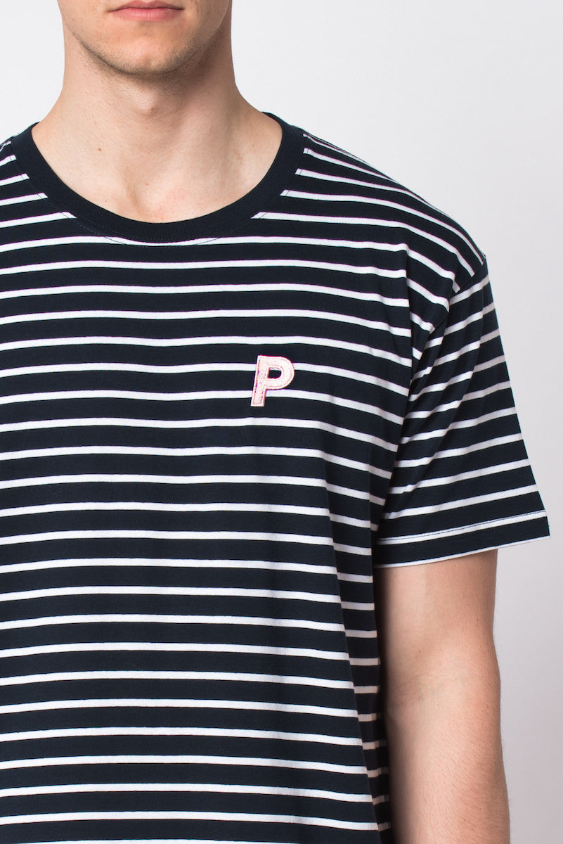 """P Is For..."" Stitch Stripe Tee - NAVY - Prism Collective"