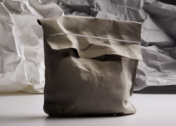 Grey washable paper bag
