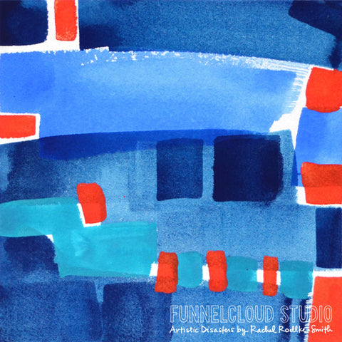 DIVE IN 06 | 8x8 original painting