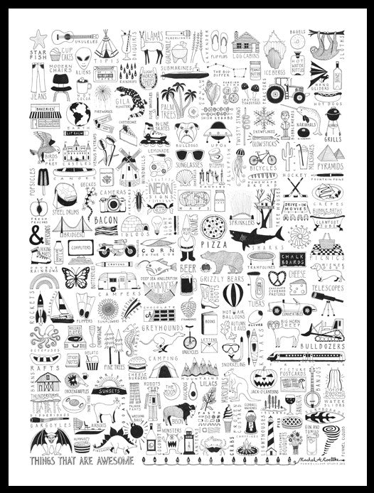 THINGS THAT ARE AWESOME | 18x24 print