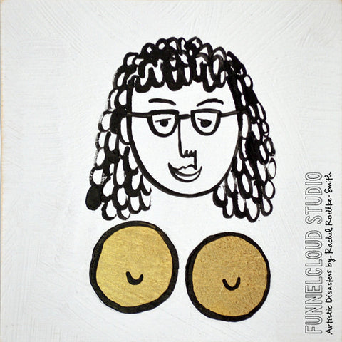 BOOBS! #08 | 4x4 original painting