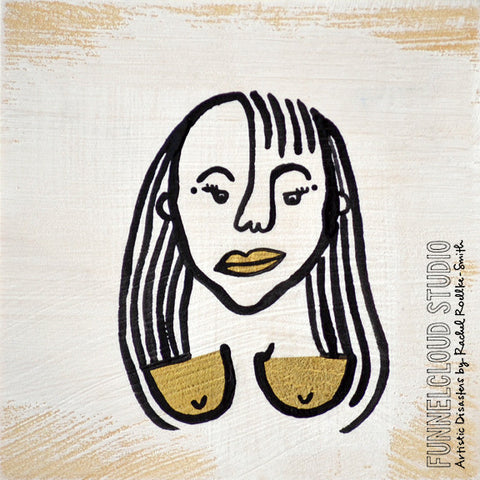 BOOBS! #16 | 4x4 original painting