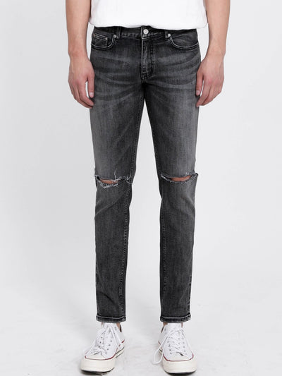 [FATALISM] #0129 Burning Grey Slim Crop Jeans