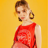 [EYEYE] STAMP PRINT SLEEVELESS T-SHIRTS