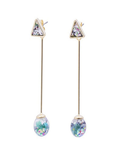 [LUVINBALL] Longstick Snowball Drop Earrings Style1