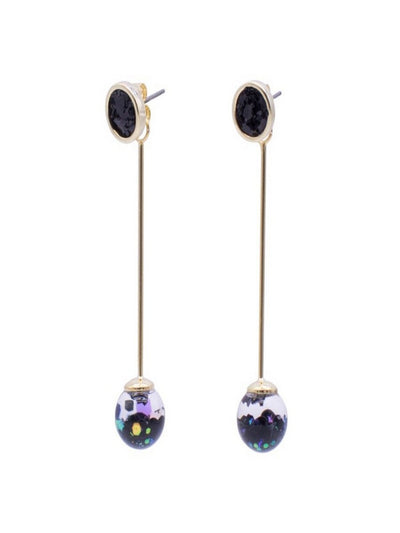 [LUVINBALL] Longstick Snowball Drop Earrings Style2