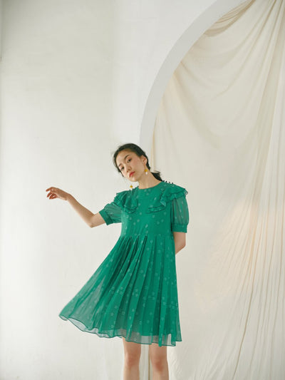 [OH.L] PRINCESS LINE LACE DRESS_GREEN