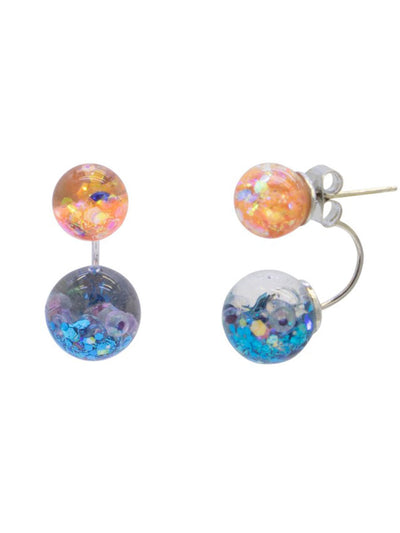 [LUVINBALL] Vivid 2way Snowball Earrings