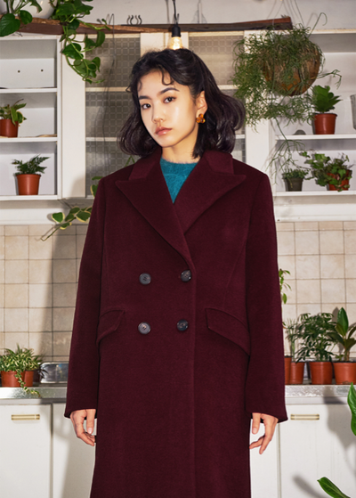 [OH.L] DOUBLE BOTTON COAT (CHOCOLATE)