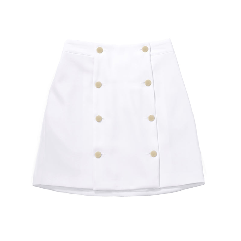 [BIBYSEOB] PANEL SKIRT WHITE