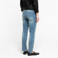 [FATALISM] #0104 Vintage Blue Tapered Crop Fit Jeans