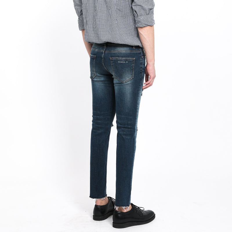 [FATALISM] #0113 Ven Dis Cutting Crop Fit Jeans