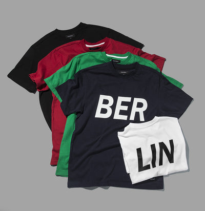 [ZANLMAL] BERLIN BIG LOGO TEE GREEN