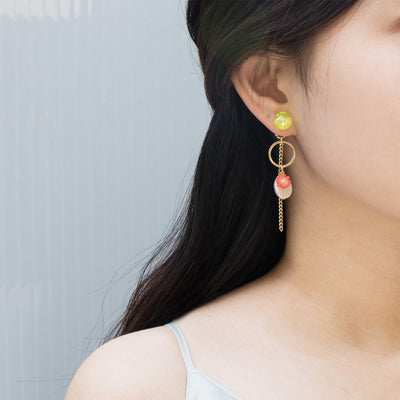 [TWICE 채영][LUVINBALL] Snowball, Aloha Drop Earrings