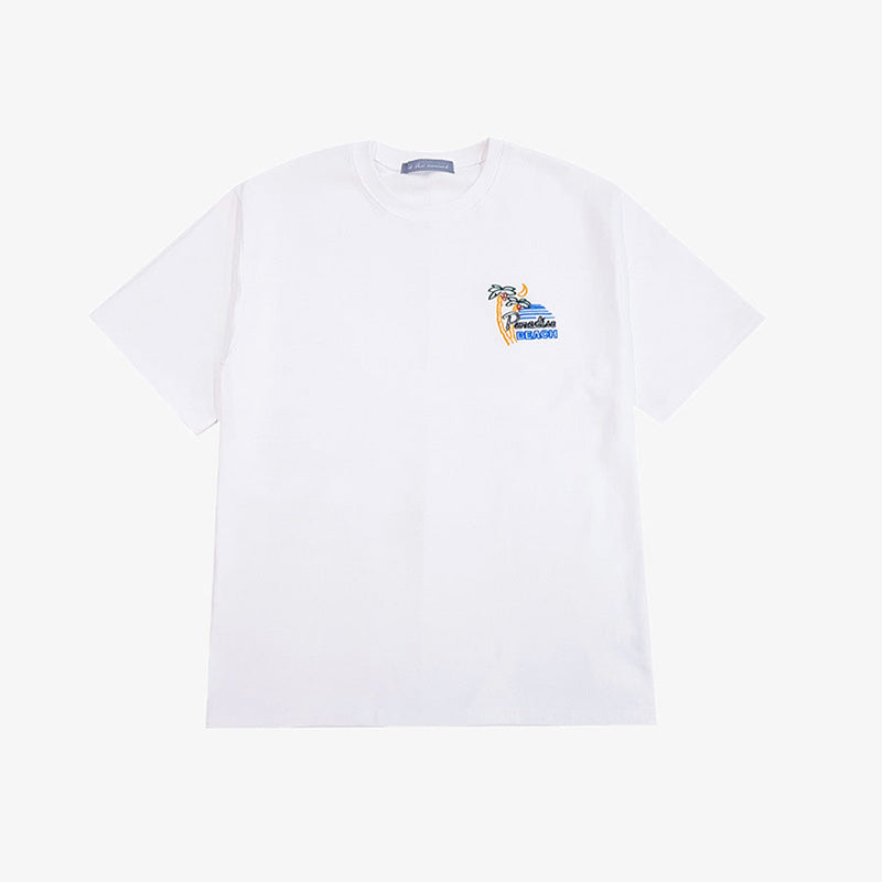 [AT THE MOMENT] Paradise Half T-shirt (WHITE)
