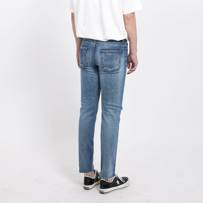 [FATALISM] #0133 Burning Blue Dis.Ver Slim Crop Fit Jeans