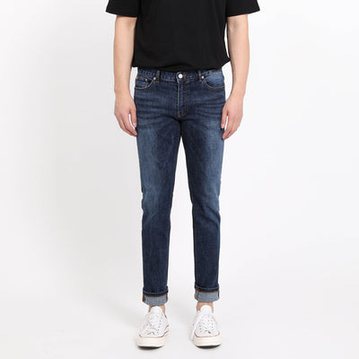 [FATALISM] #0120 Indigo Blue Slim Crop Fit Jeans
