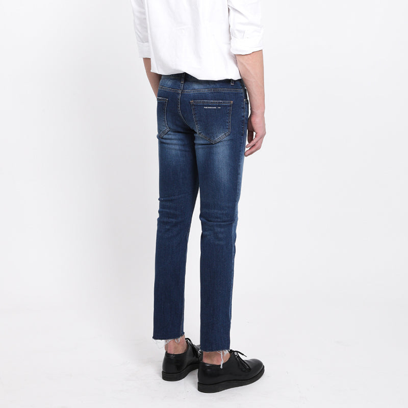 [FATALISM] #0114 Summer Blue Cutting Crop Fit Jeans