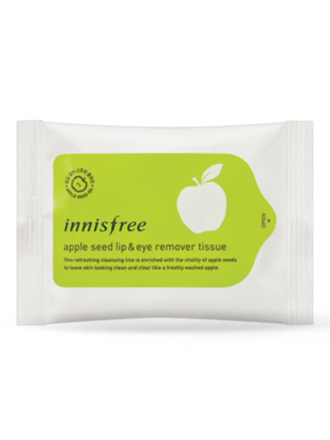 [INNISFREE] Apple Seed Lip and Eye Makeup Remover Tissue