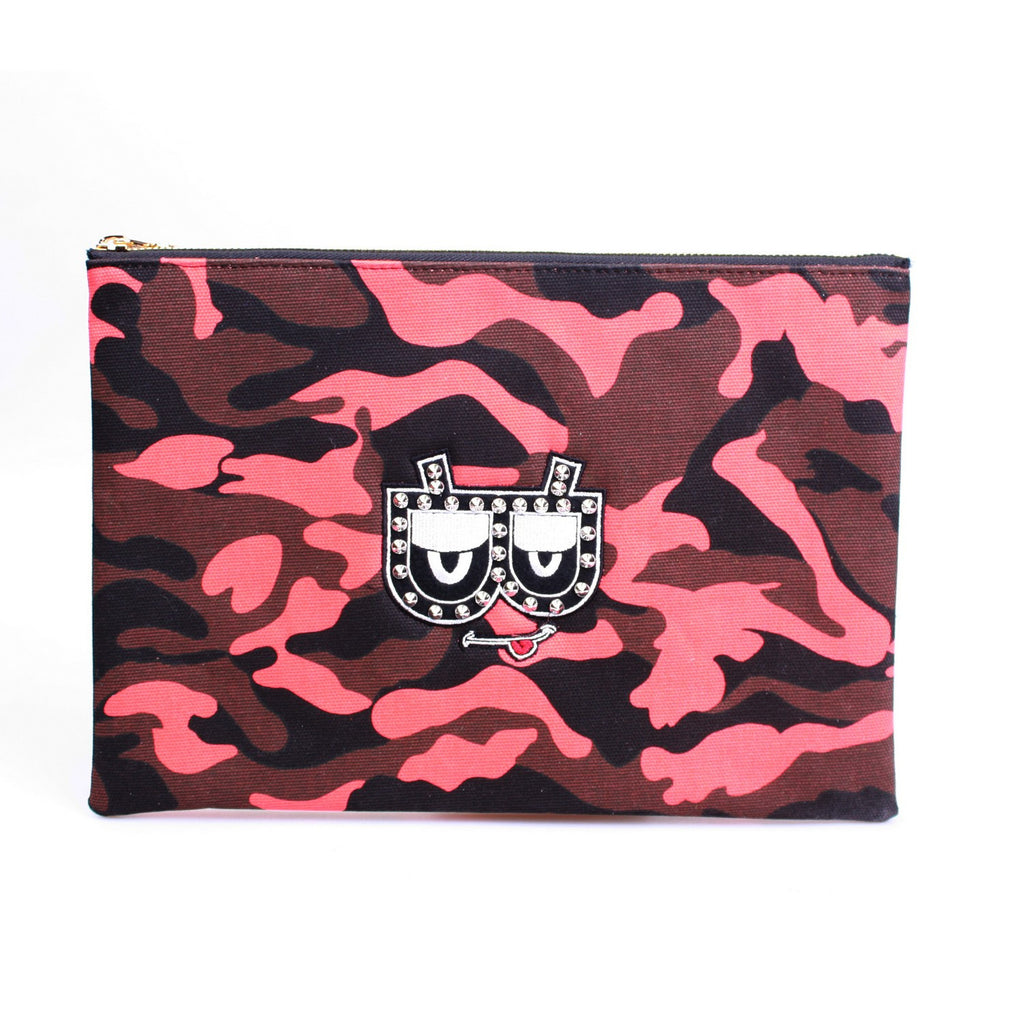 [BIENVETU] CAMO CLUTCH RED3