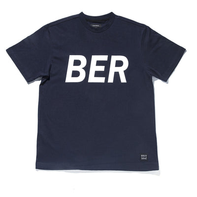 [ZANLMAL] BERLIN BIG LOGO TEE NAVY
