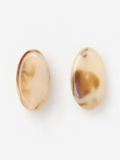 [J.GRACELET] Mini Round Earrings (Beige)