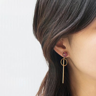 [LUVINBALL] Snowball, Shape Drop Earrings Style3