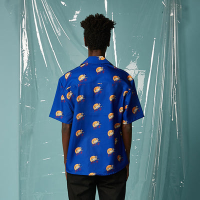 [AT THE MOMENT] Alllover Printing Shirt (BLUE)