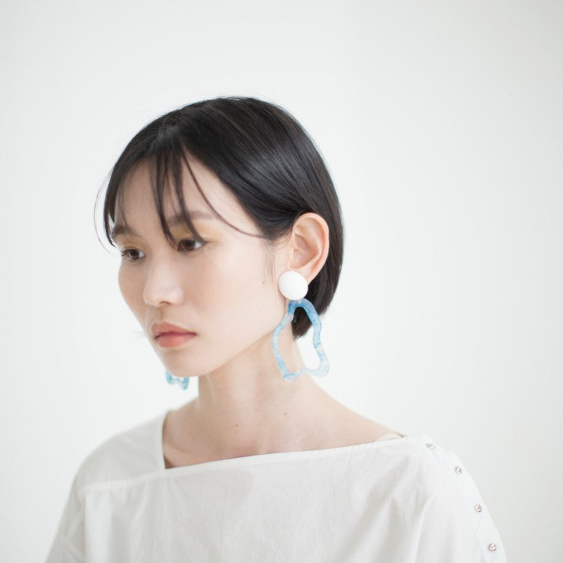 [MIDNIGHT MOMENT] wave blue earring