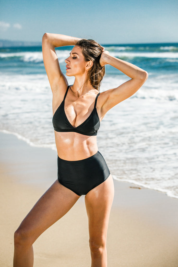 [CHAE LOOK] COINS OF ALTIN SOFT BRA & HIGH WAIST BIKINI_BLACK_BOTTOM
