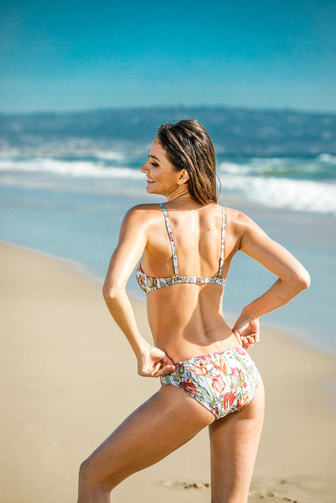 [CHAE LOOK] PRINTED SACRED WEAVE BANDEAU & CHEEKY HIPSTER BIKINI_WHITE_BOTTOM