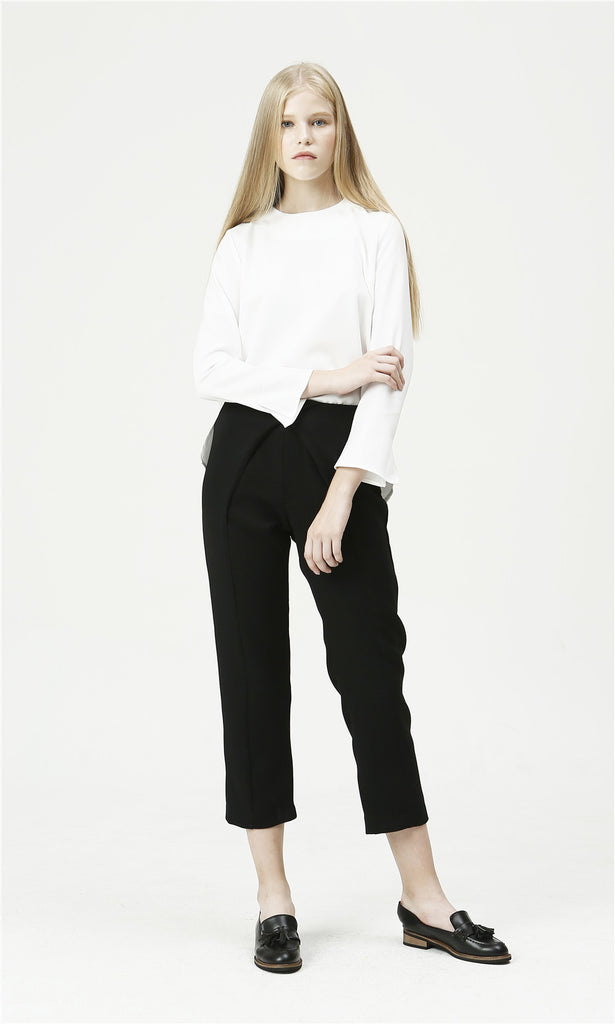 [ETHRICA] DOUBLE DRAPED PANTS