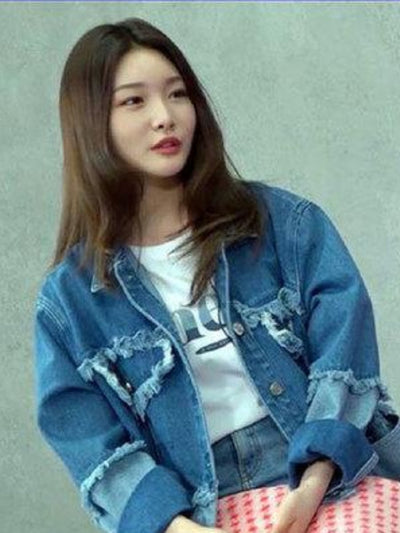 [IOI 청하][EYEYE] COMBINATION WASHING DENIM JACKET