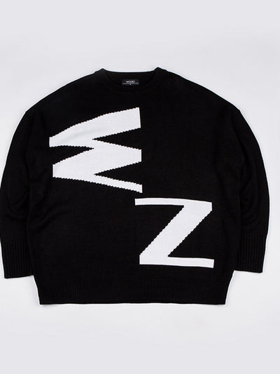[Wanna One 이대휘][WOOZO] Woozo Abbreviation Full Knit Black/White( Free )